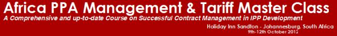 Africa PPA Management & Tariff Master Class